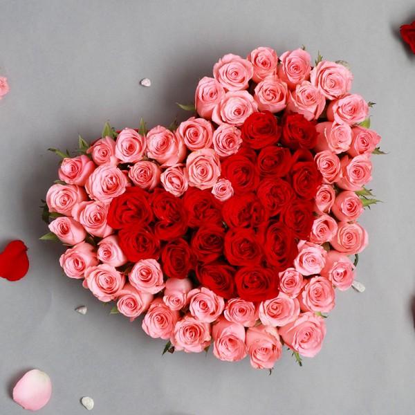 Heart shape arrangement