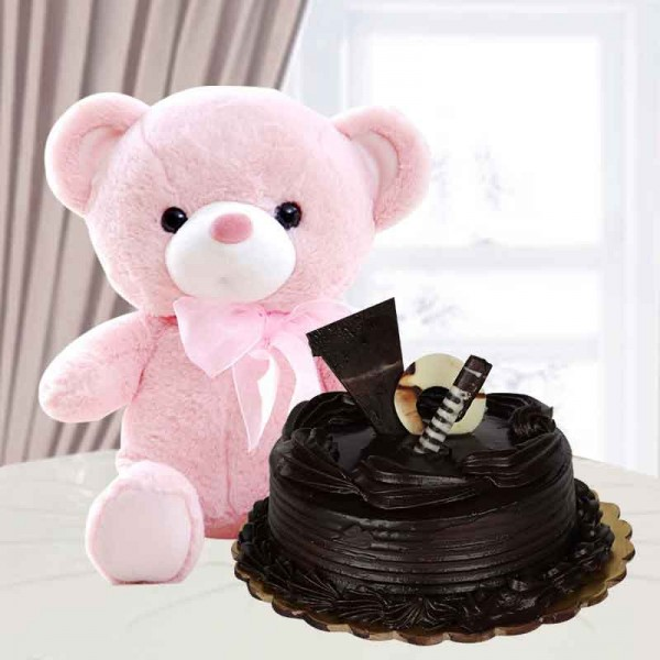 Cute soft toy and cake hampers