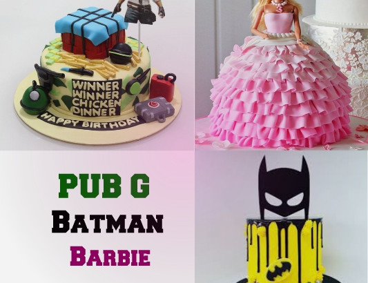 Batman Barbie PUBG Cakes