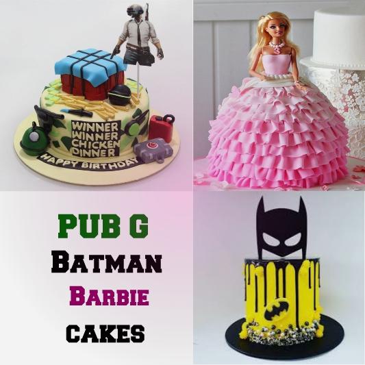 Batman Barbie PUBG Cakes