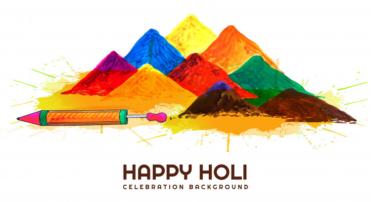 Indian festival Holi celebrations card background