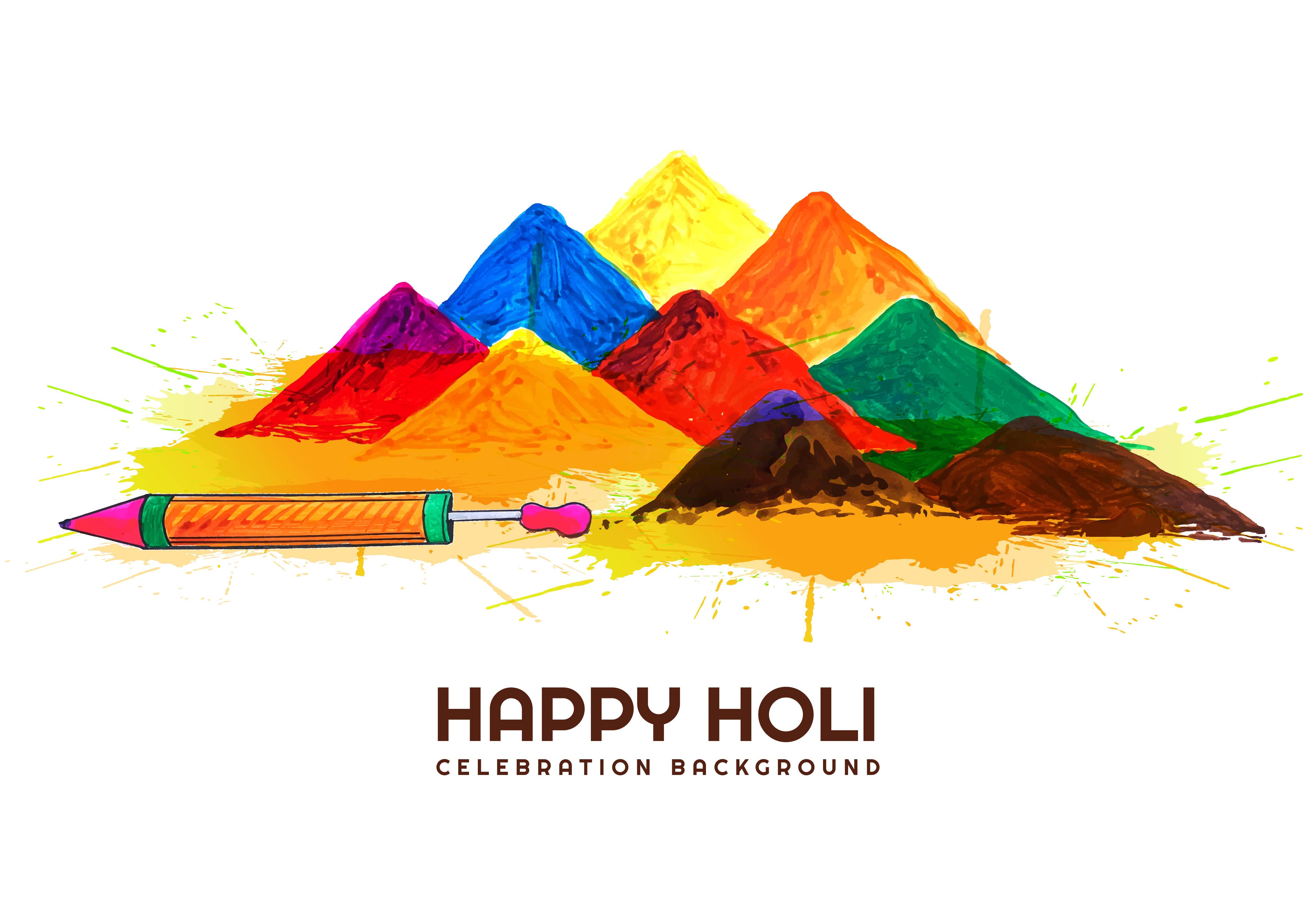 Indian festival Holi celebrations card background