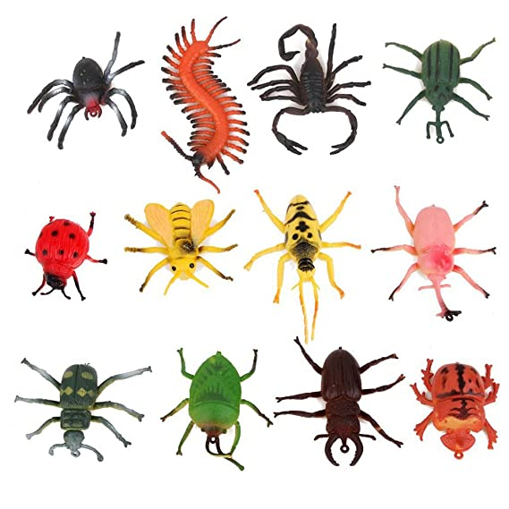 Play with fake insects