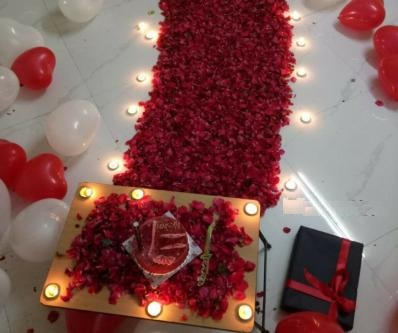 Lovely red roses in the darkroom-Send Flowers To India