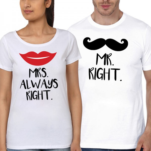 Anniversary gift ideas couple t-shirt