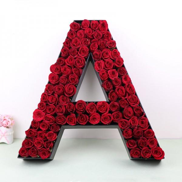 alphabetical flower bouquet