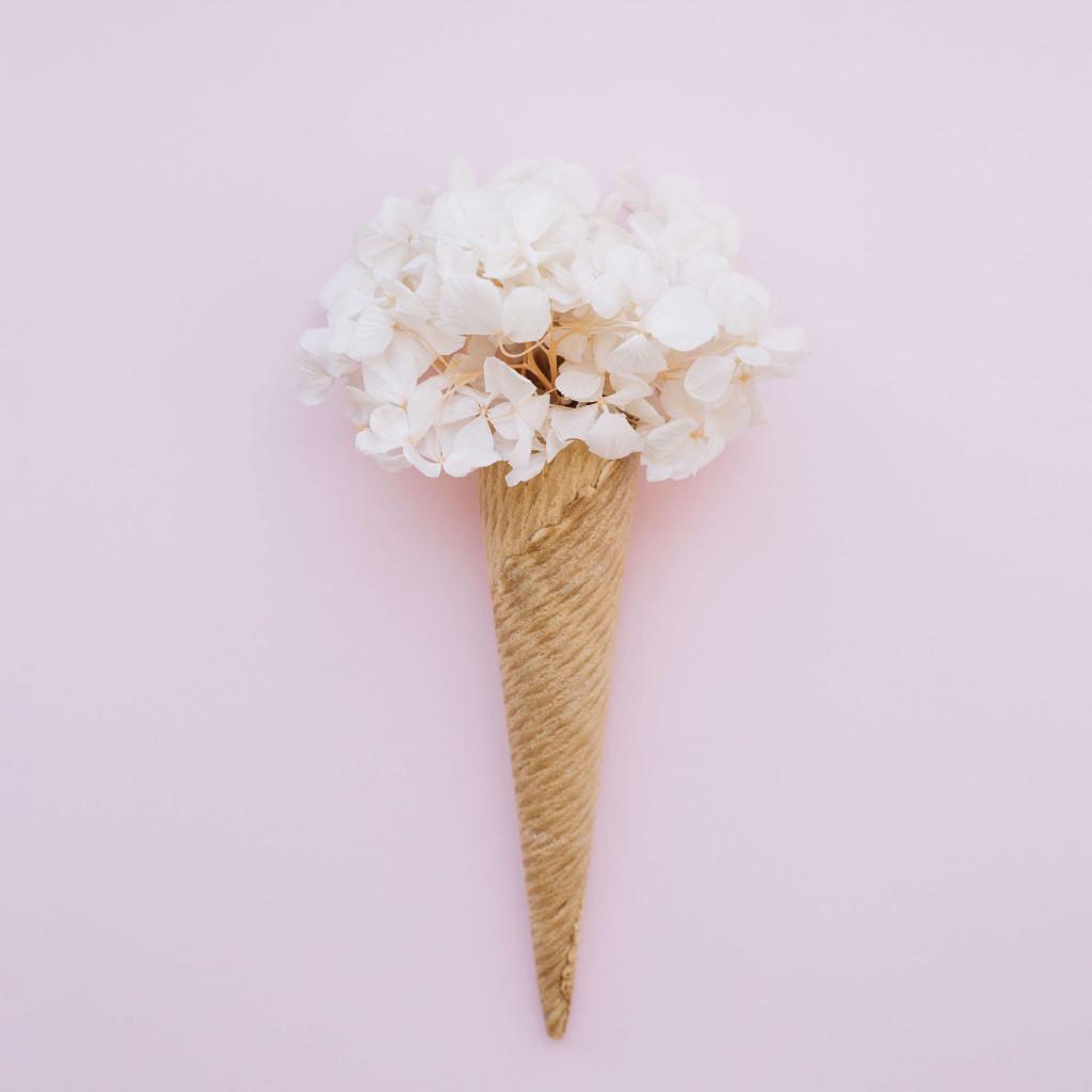 cone shaped flower bouquet