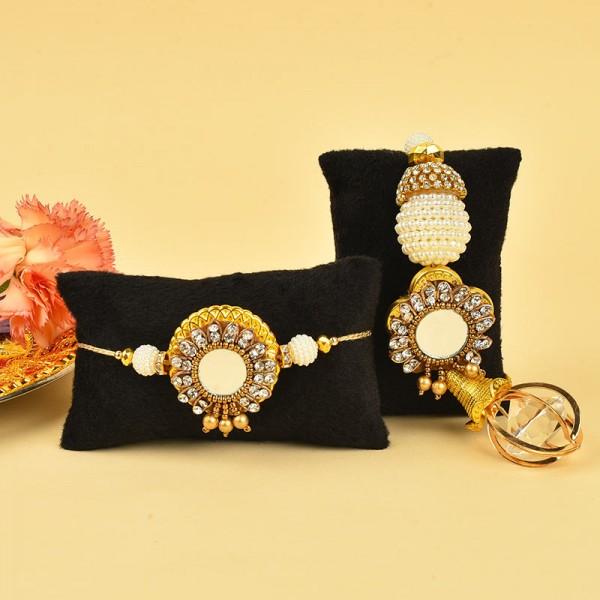 Buy Pearl lumba rakhi