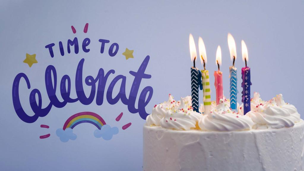 celebrate anniversary with cake