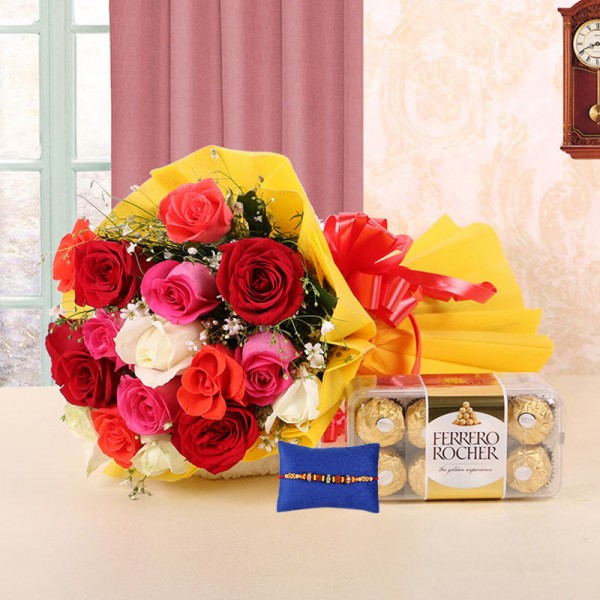 Online rakhi with flowers delivery