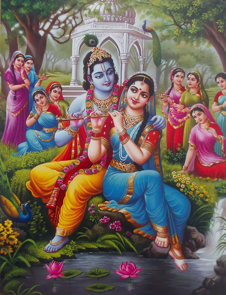 no evidence of Radha on sculptures