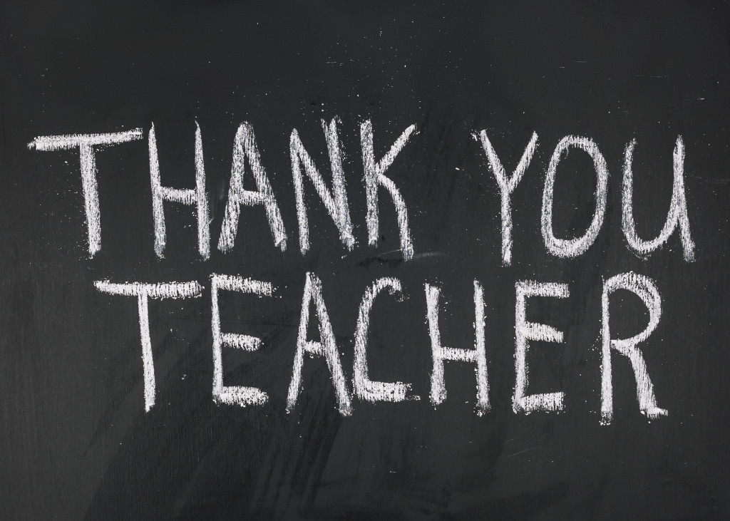 say thank you to teacher
