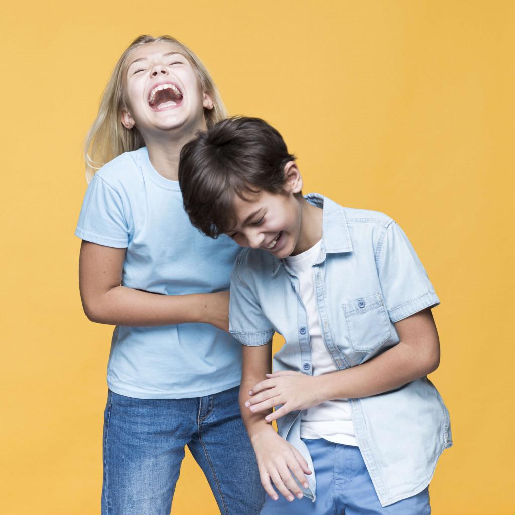 sibling make you laugh