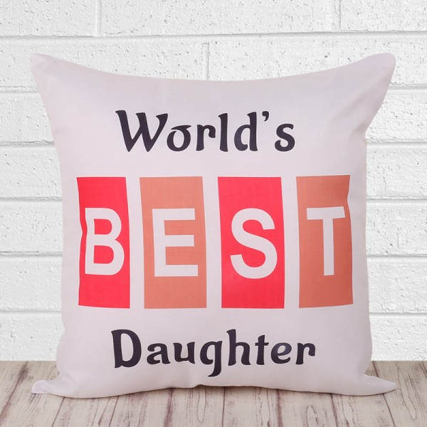printed cushion for daughter