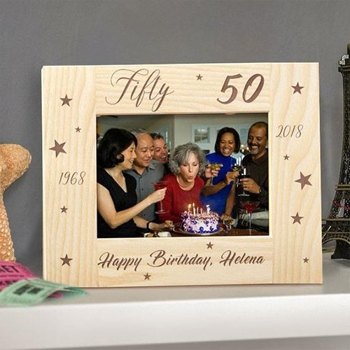 A personalized photo frame