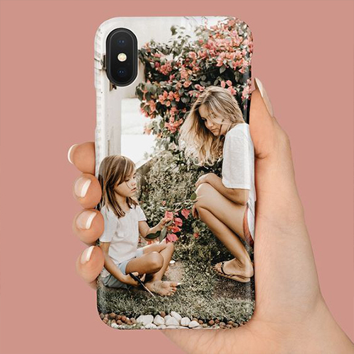 A phone case with a printed photo of the two of you