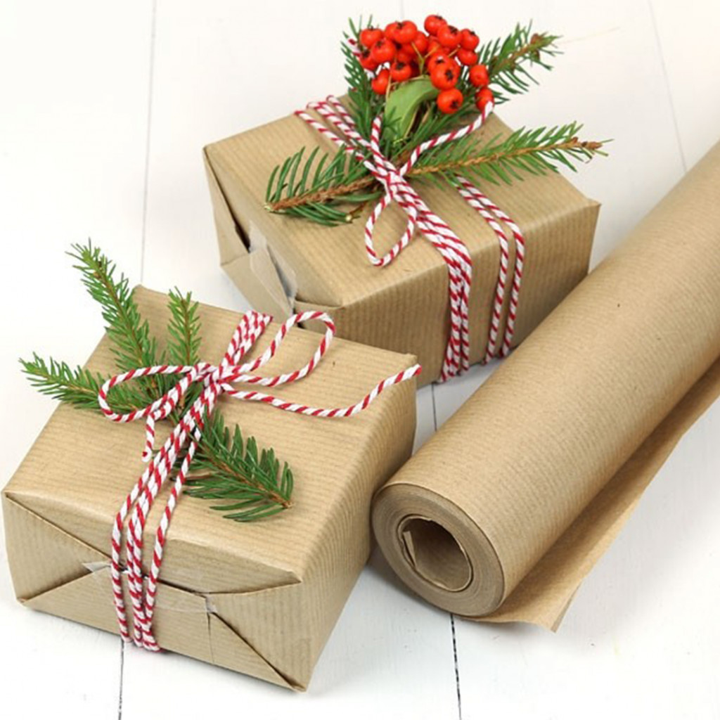Wrap your Christmas gifts with recycled papers