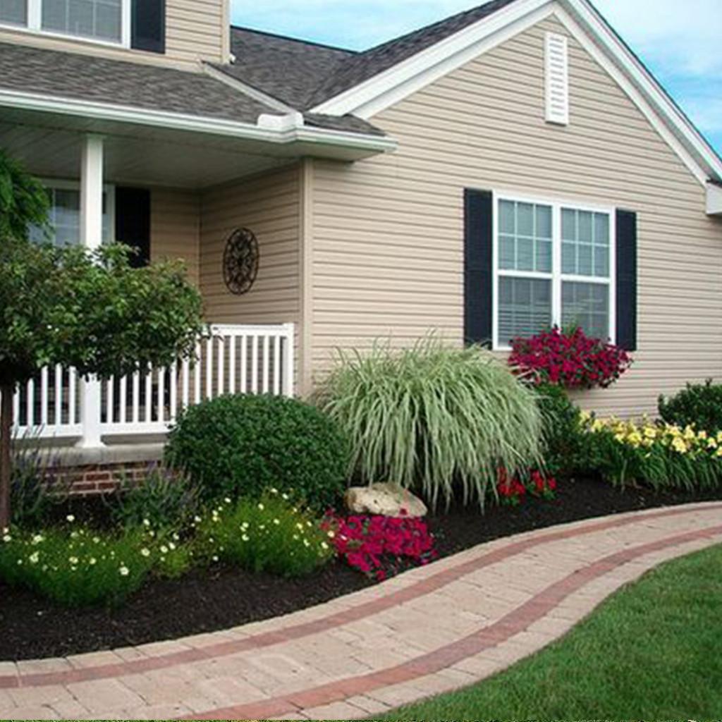 Side yard flower bed