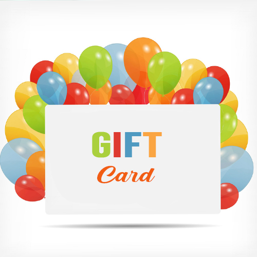 Gift card with balloons