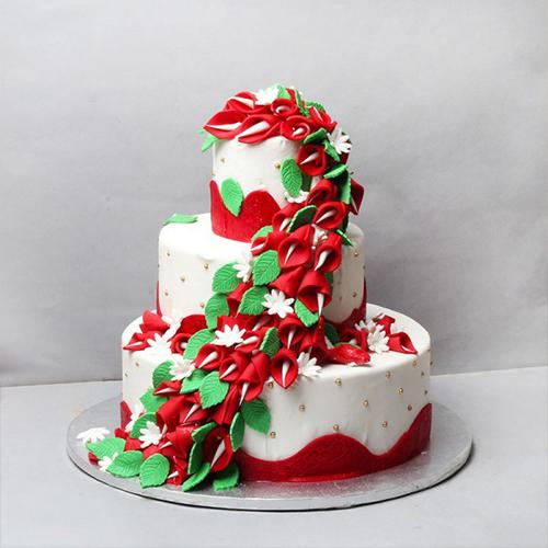 Floral Tier cake