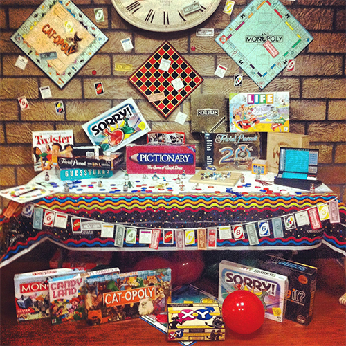 Board game birthday party
