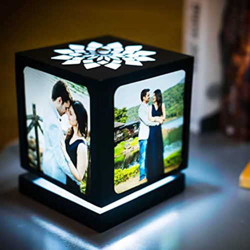 Personalized picture lamp to brighten their day