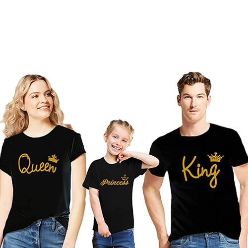T-shirts in the same color family