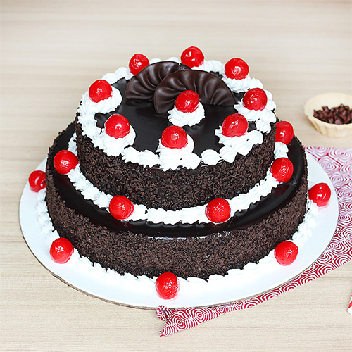 Cake with a Black Forest Flavour