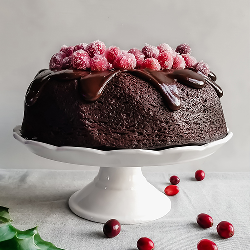 Cake with Cranberry Coating