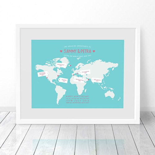 Personalised MapTo tell that you would like to travel with the crush