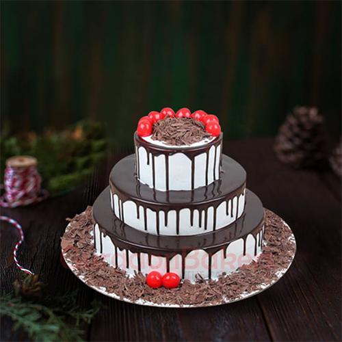 Triple-Tier Marble Cake