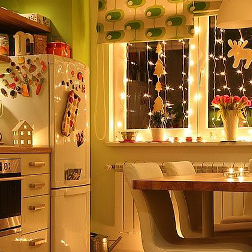 Make the fairy lights fly in Kitchen