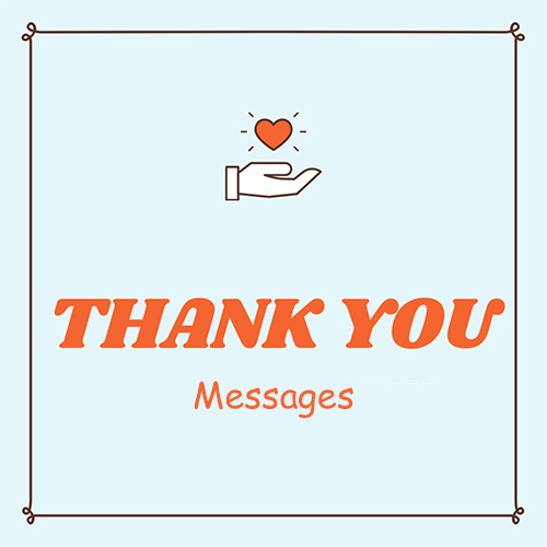 Messages thank you