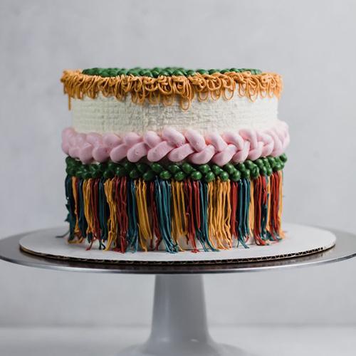 Adorable Woven Cake