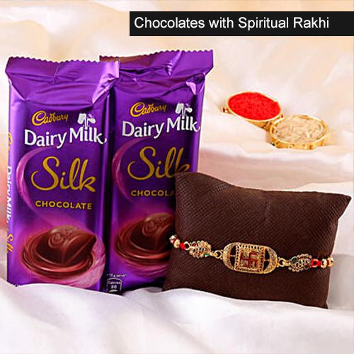 Chocolates with Spiritual Rakhi