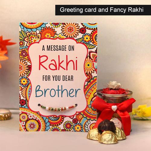 Greeting card and Fancy Rakhi