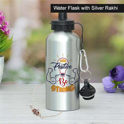 Water Flask with Silver Rakhi