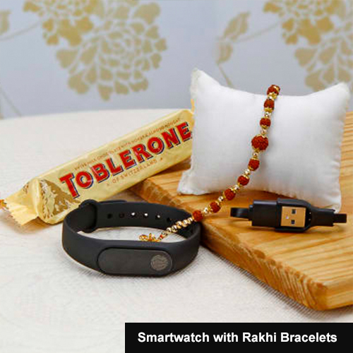 Smartwatch with Rakhi Bracelets