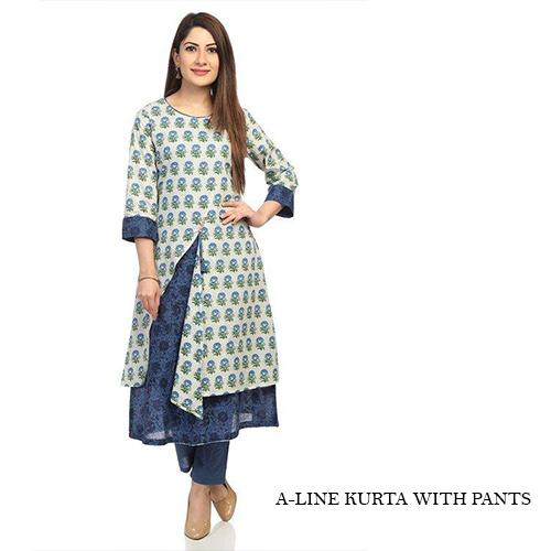 A-Line Kurta with Pants