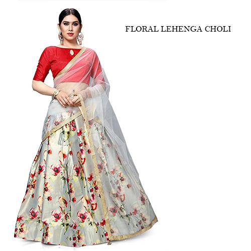 Floral Lehenga Choli