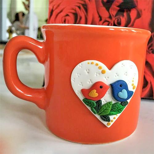 Heart Love Bird Mug