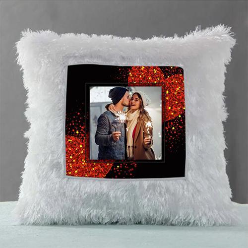 Photo Fixed Fur Cushion