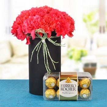 Anniversary Flowers And Chocolates