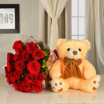 Flowers With Teddy
