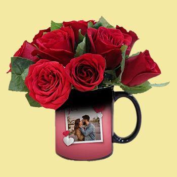 Flowers with Mug