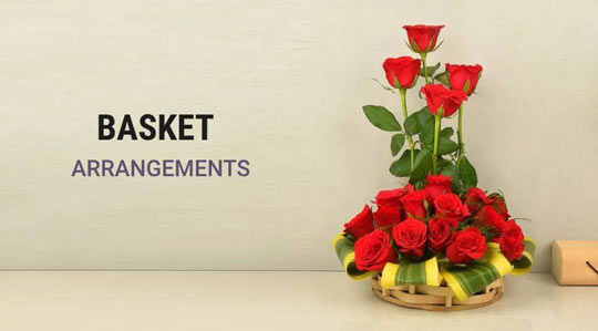 basket-arrengement flowers