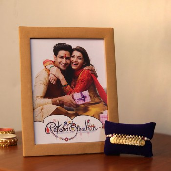 Rakhi with Photo Frame