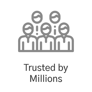 Trusted by Millions