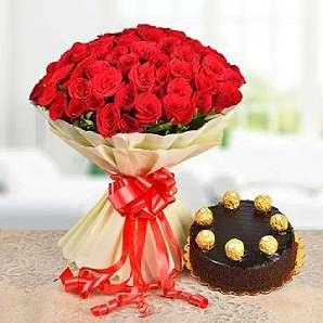 Valentine Flowers-N-Cake