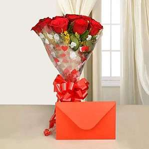 Valentine Flowers N Card